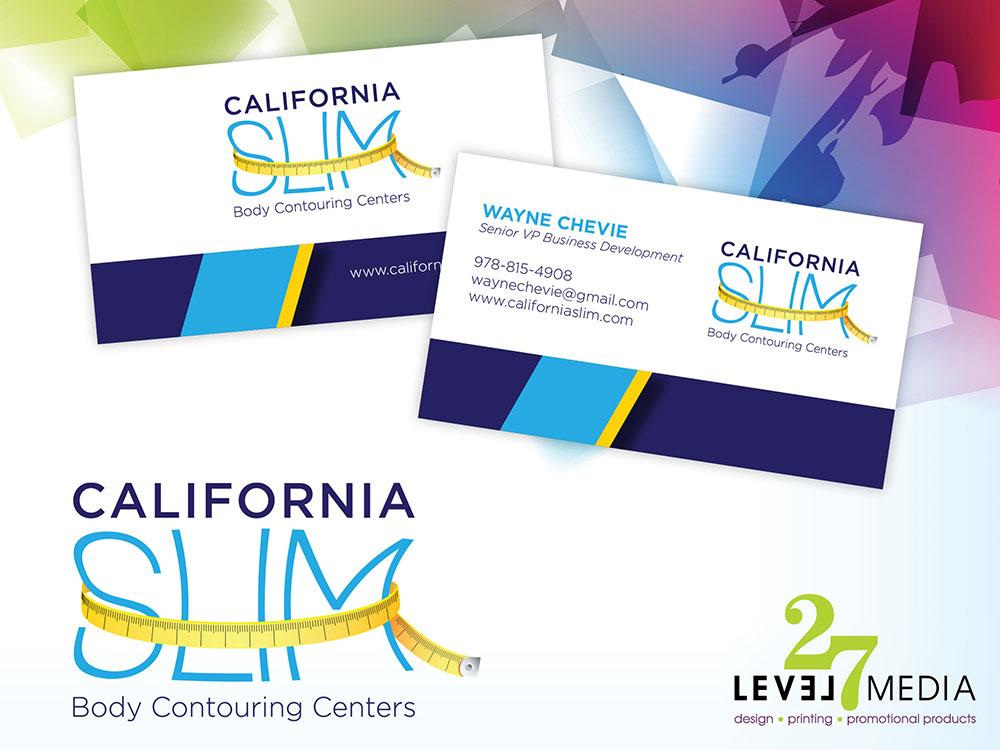 California Slim Logo and Business Cards – Level 27 Media