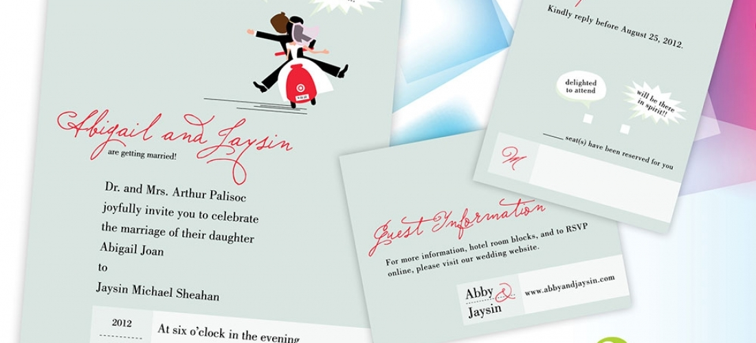Abigail & Jaysin's Wedding Invitations