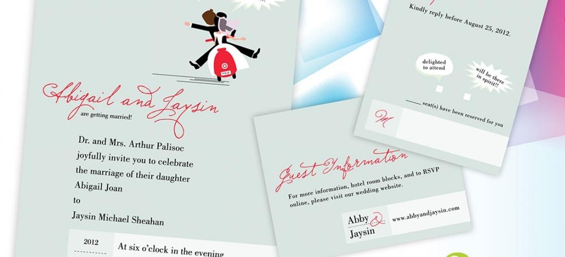 Abigail & Jaysin's Wedding Invitations