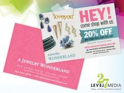 A Jewelry Wonderland Postcard Design