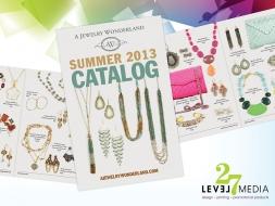 Summer Catalog Design for A Jewelry Wonderland