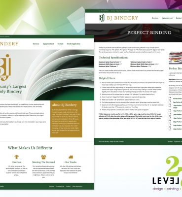 Web Design for BJ Bindery
