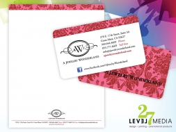 Stationery Design for A Jewelry Wonderland