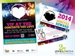 Music Saves Lives Marketing Materials